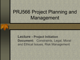 PRJ566 Project Planning and Management - Seneca