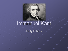 immanuel kant and ethical dilemma Immanuel kant (1724-1804) was a german philosopher he argued that human concepts and categories structure our view of the world and its laws, and that reason is the source of morality his thought continues to have an influence in contemporary thought.