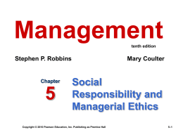 Management 9e.- Robbins and Coulter - Home