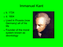 Kant and Deontology