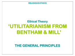 Introduction to Utilitarianism Powerpoint