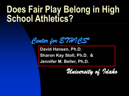 Does Fair Play Belong in High School Athletics?
