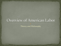 Overview of American Labor