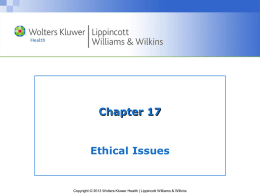 Ethical Issues Question