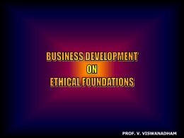 Business Development on Ethical Foundations – MANAGE