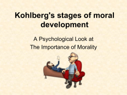 Kohlberg`s stages of moral development