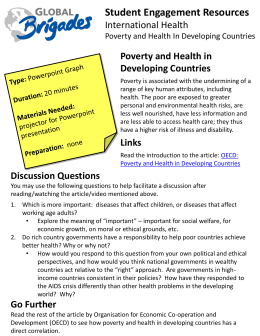 Poverty and Health in Developing Countries