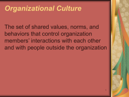 Culture and Ethics