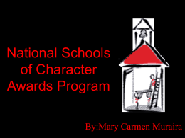 National Schools of Character Awards Program