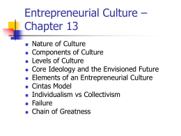 Entrepreneurial Culture – Chapter 13
