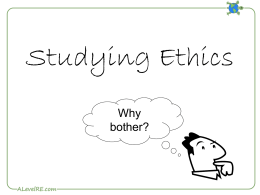 Studying Ethics