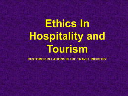 Ethics in Hospitality and Tourism Powerpoint