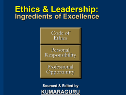 Ethics & Leadership