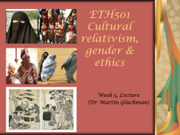 Cultural Relativism - Fiji National University | E
