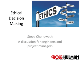 Ethical Decision Making - Rose
