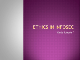 Ethics in InfoSec