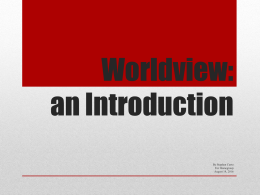 Worldview An Introduction x
