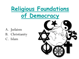 Religious Roots of Democracy