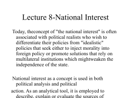 Lecture 16-National Interest