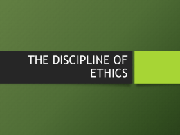 1. Normative Ethics