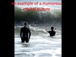 An example of a Humorous ethical picture