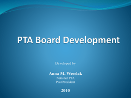 PTA Board Development