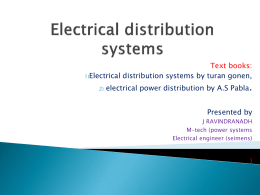 Electrical distrib