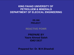 Reactive power - Faculty Personal Homepage