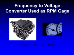 Frequency to Voltage Converter Used as RPM Gage