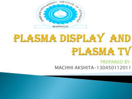 PLASMA TV AND PLASMA