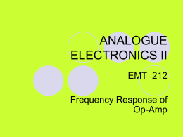 Frequency Response of Op-Amp
