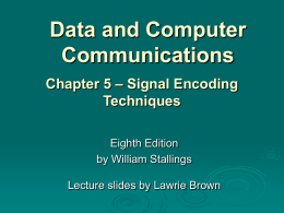 Chapter 5 - William Stallings, Data and Computer Communications