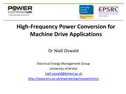 High-Frequency Power Conversion for Machine Drive Applications