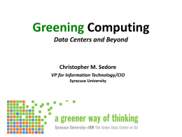 green computing at Syracuse