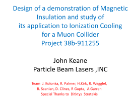 Design of a demonstration of Magnetic Insulation and study