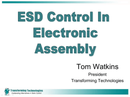 ESD Control in Electronic Assembly