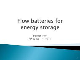 Flow batteries for energy storage