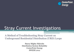 URD Stray Current Investigations