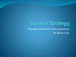 Formula Triangles Science Strategy