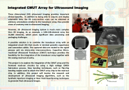 Integrated CMUT Array for Ultrasound Imaging