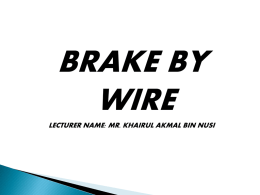 chapter 8 – brake by wire - ja505