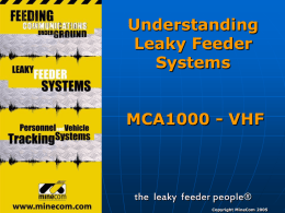 Leaky Feeder Cable
