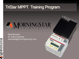 Morningstar Training Presentation for the TS