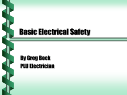Basic Electrical Safety