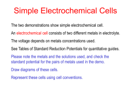 Simple Electrochemical Cells