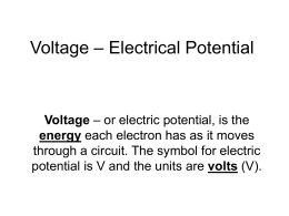 Voltage – Electrical Potential