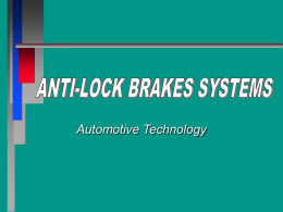 ANTI-LOCK BRAKES SYSTEMS