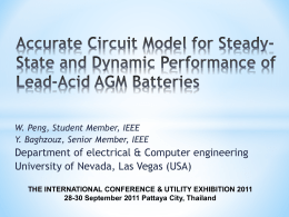 Accurate Circuit Model for Steady-State and Dynamic Performance