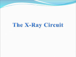 Chapter 14 X-Ray Circuit