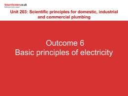 6. Know the basic principles of electricity